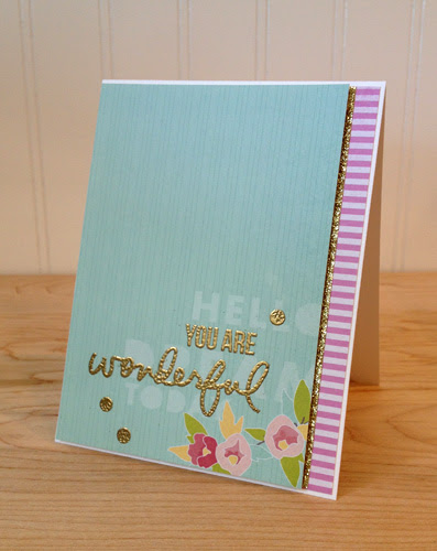 you are wonderful gold embossing
