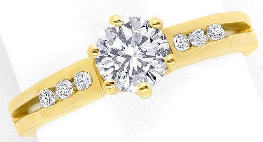 Foto 2, Neu! Traumhafter Brillant-Solitär-Ring, 18K/750! Luxus!, S8342