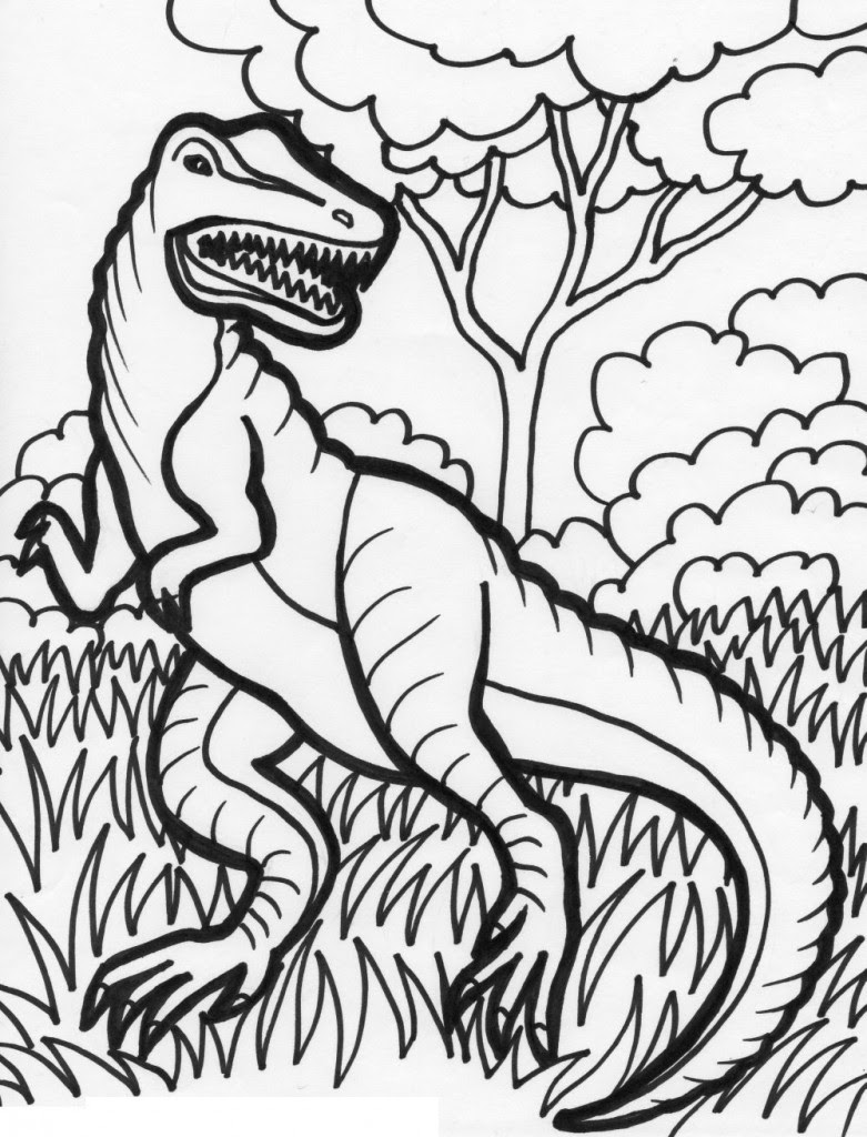 Coloring Pages Free Printable Dinosaur Coloring Pages For Kids