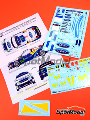 Reji Model: Calcas escala 1/24 - Ford Focus WRC Movistar Nº 16 - Daniel 'Dani' Solà (ES) - Rally Tour de Corse 2005 - para kit de Hasegawa 20240, 20264