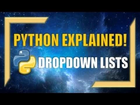 Python GUI: Creating DROPDOWN LISTS - Python Programming