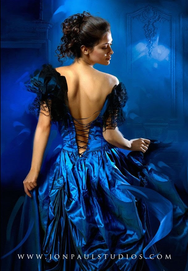 Bewitching in blue ... artist Jon Paul www.artofjonpaul.com and www.jonpaulstudios.com