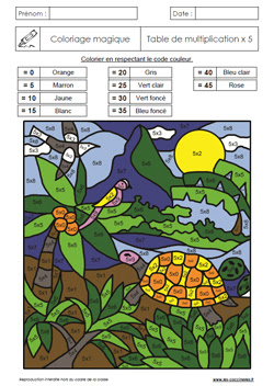【Haut】 Coloriage Magique Tables De Multiplication Cm2