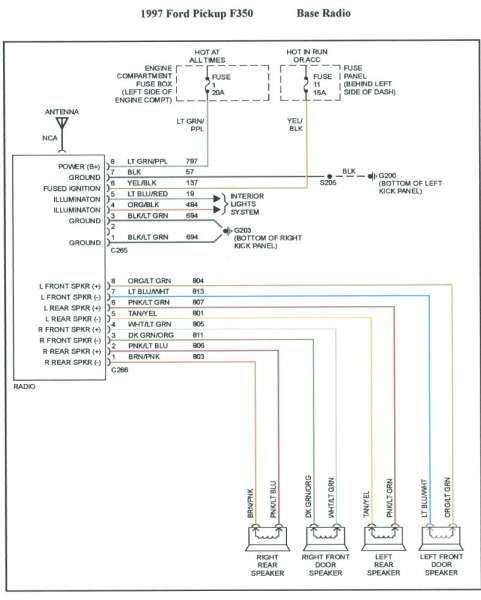 2007 Ford Taurus Radio Wiring Diagram