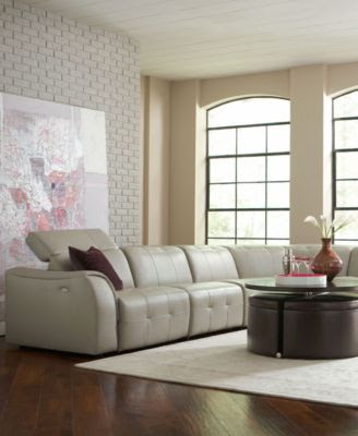 Franco Leather Sofa Living Room Furniture Collection, Power