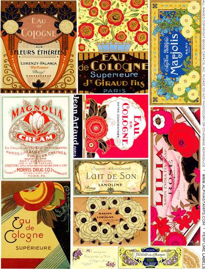 Art Nouveau Perfume Labels