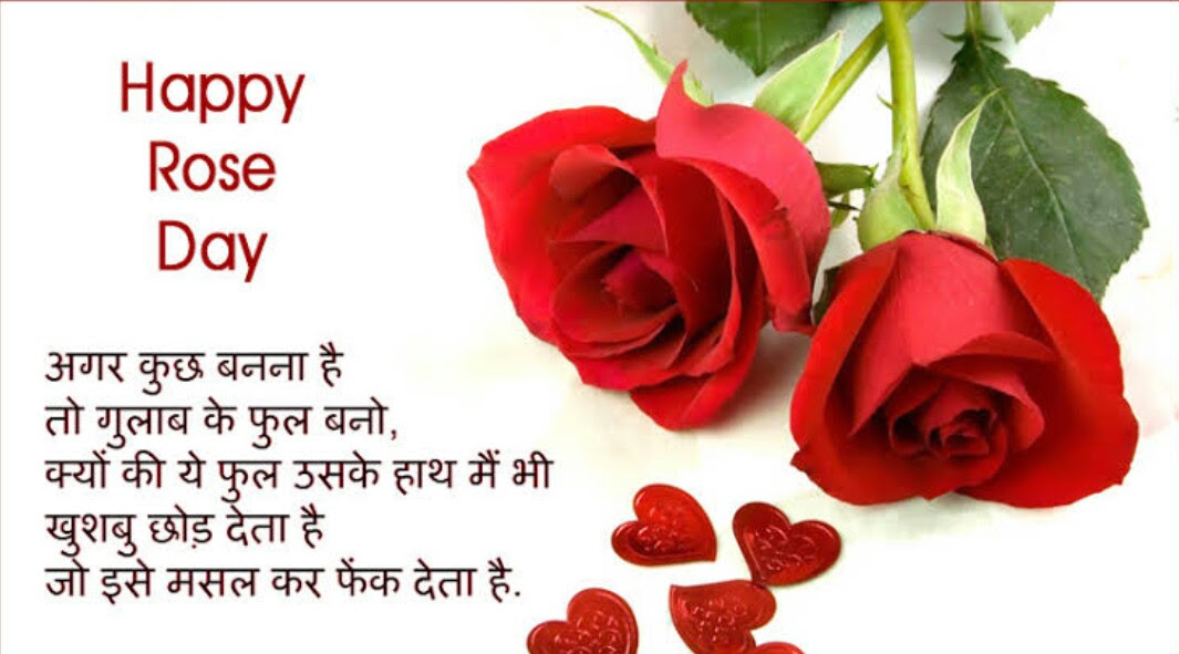 Happy Rose Day Wishes In Hindi Images Pics Photo Greetings Hd Photo