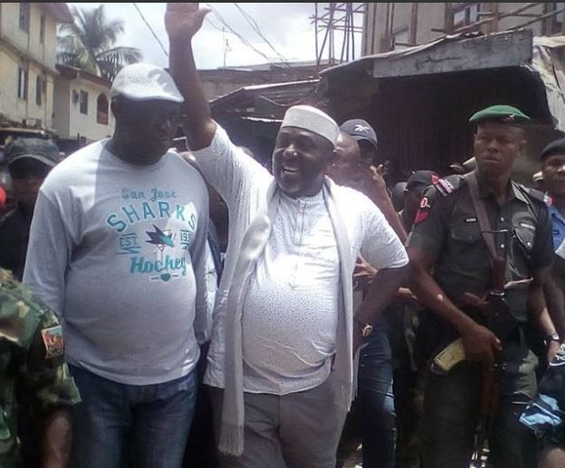 #PrayForOwerri: Nigerians react to Rochas Okorocha's demolition of Eke Ukwu market in Imo State