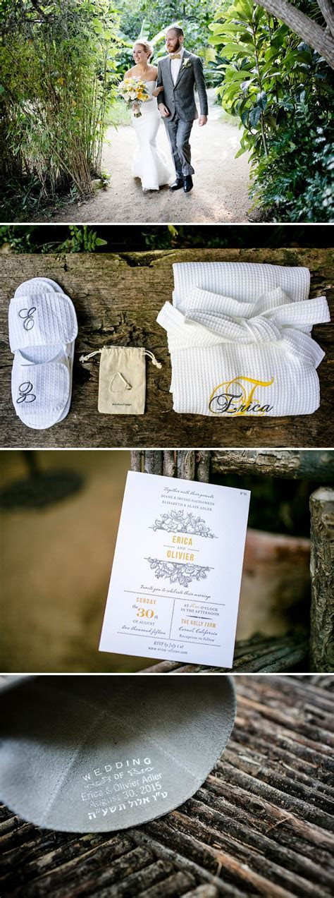 A Nicole Miller Bride for a retreat style rustic Jewish