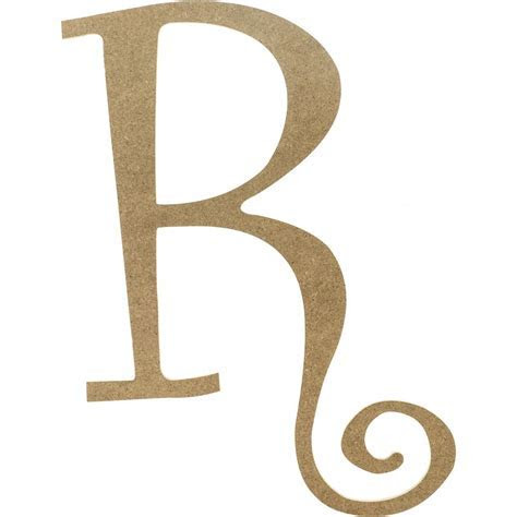 "14"" Decorative Wooden Curly Letter: R [AB2162"