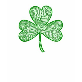 Scribbleprint Shamrock shirt