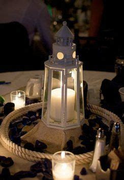 Cream Nautical Lighthouse Centerpiece   Lighthouse