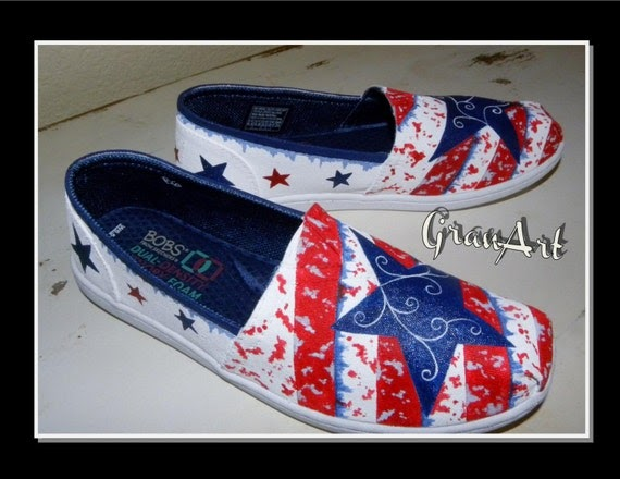 Red White And Blue Bobs Shoes
