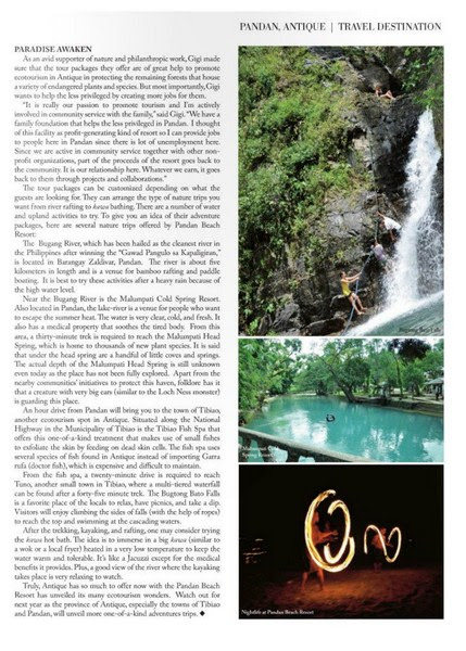Asian Journal feature on Pandan Beach Resort -1 (Copy)