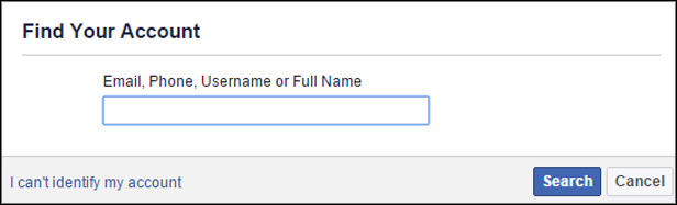 Facebook Find Your Account