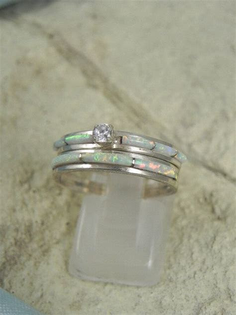 Native American Opal Wedding Ring Set   wedding?   Opal