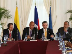 Haiti - Politic : Update on the working meeting with Colombia and Curacao
