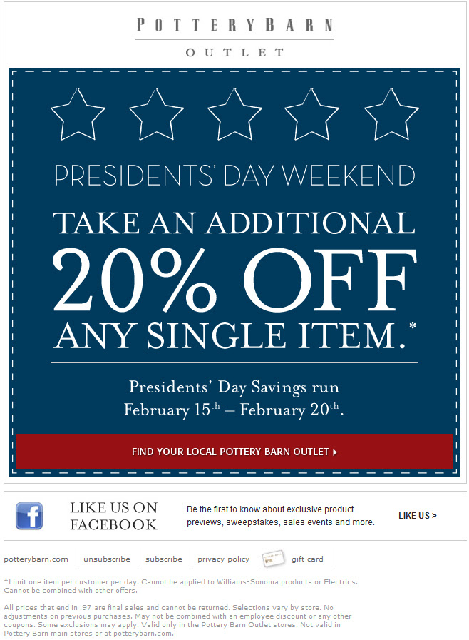 Pottery barn coupon code 15 off - Cyber monday deals on sleeping bags