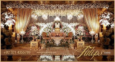 White Gold Pakistani Reception   Tulips Event Management