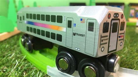 nj transit multi level commuter munipals wooden trains