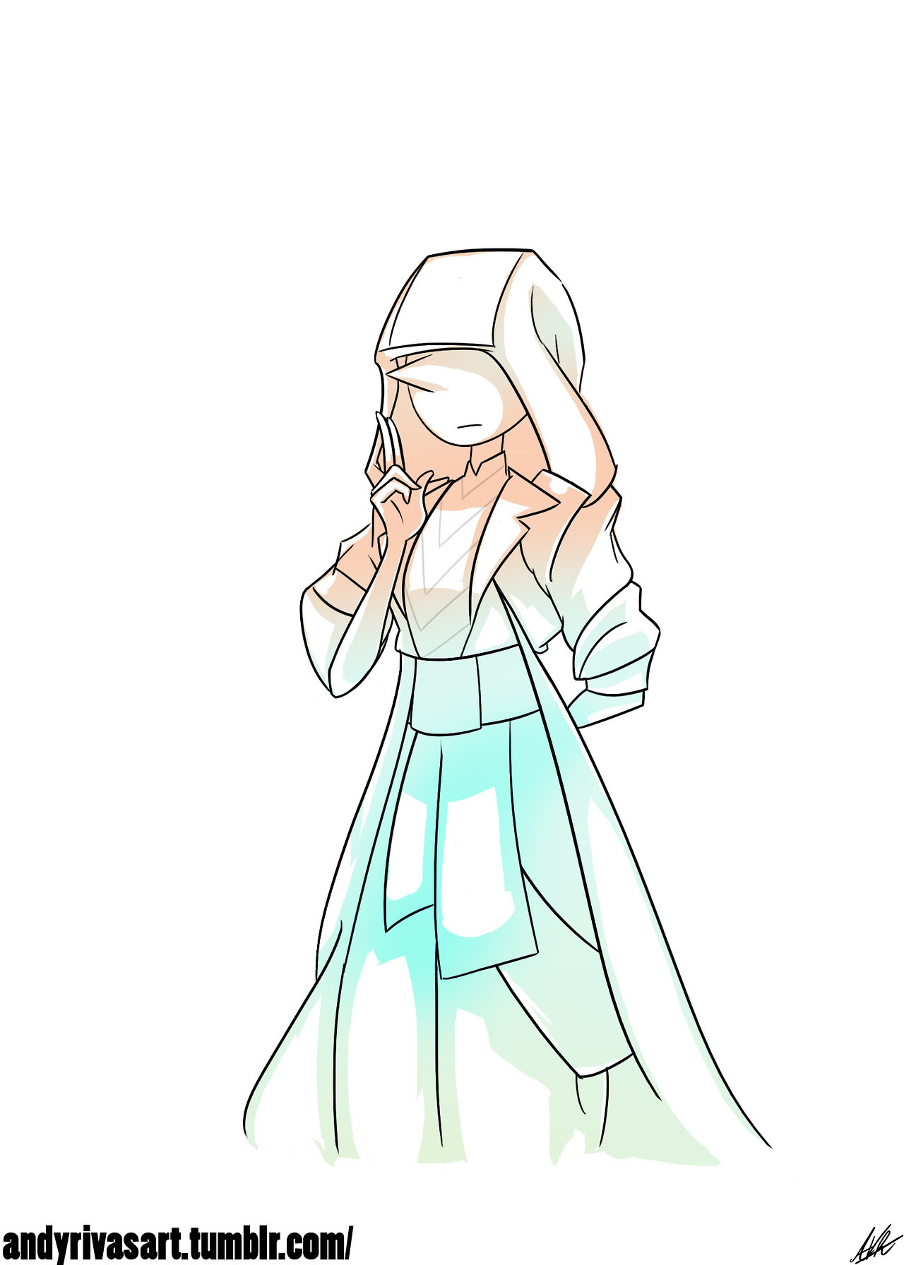 """Pearl as """"The Ancient One"""" Lol I must say love the hooded look!"""