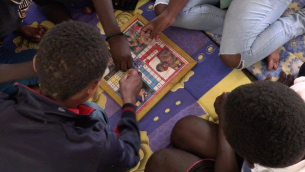 Children at a care centre in Senegal's capital, Dakar, for those caught begging