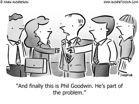 Awkward Introductions Business Cartoon