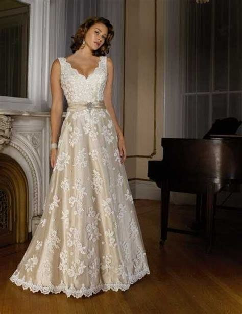 best blush wedding dresses for plus size older brides