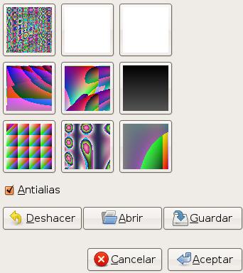 Opciones para el filtro Qbista