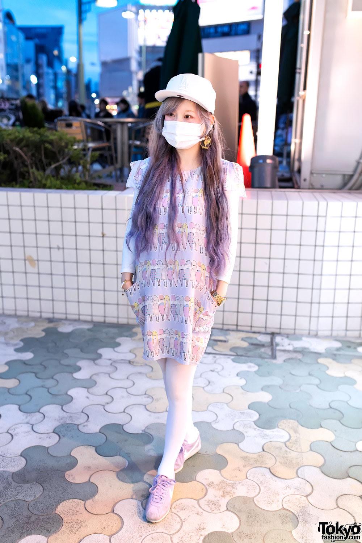 accessory designer w cute pastel hair  fashion in harajuku