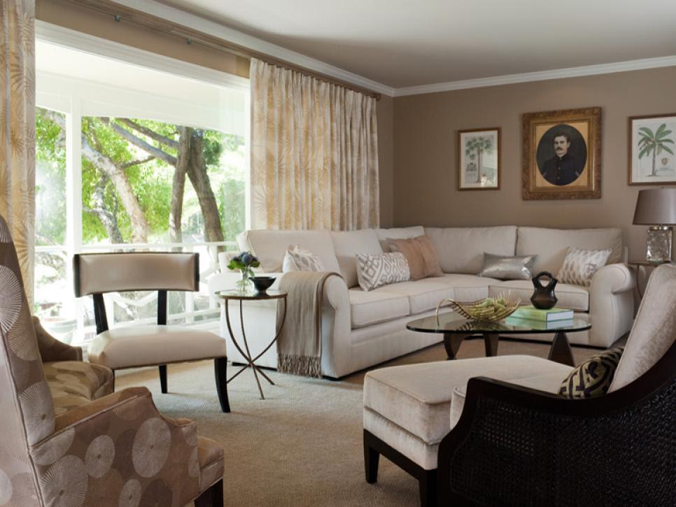 Cozy Contemporary Living Room | Jean Larette | HGTV