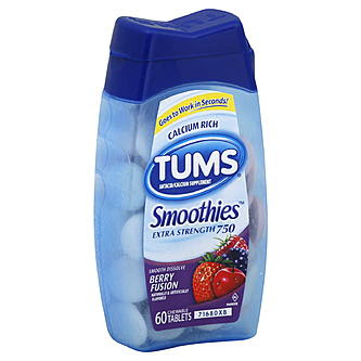 Tums Smoothies Antacid/Calcium Supplement, Extra Strength ...