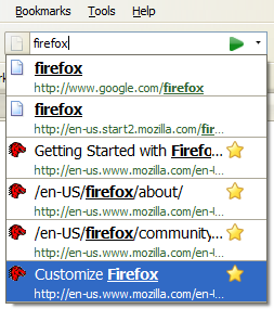 Firefox 3 Beta 4 location bar