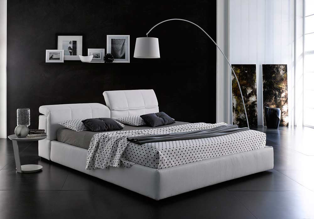 Modern White Platform bed with Storage NJ087 ...