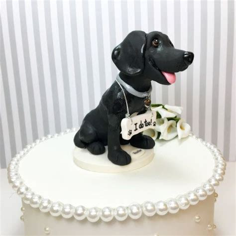Black Labrador Cake Topper Black Lab Wedding Cake by