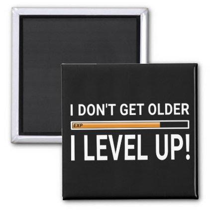 I don't get older - I level up! Magnet