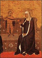 Barna da Siena, The Mystical Marriage of Saint Catherine. Detail. 1340