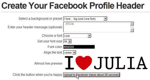 Profile Header I Love Julia