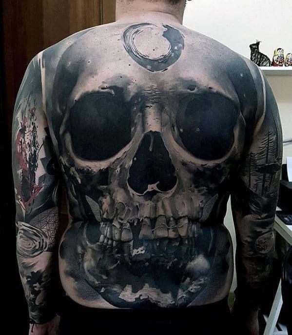 40 Badass Back Tattoos For Men Masculine Design Ideas