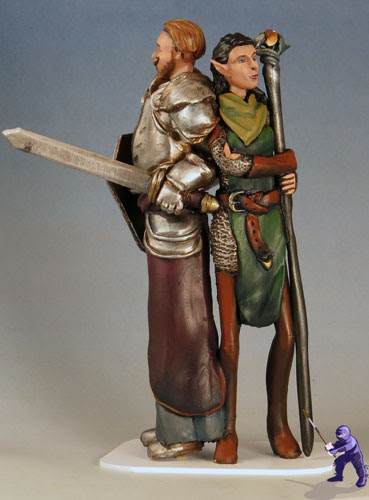 Fantasy Wedding Cake Topper Elf Bride