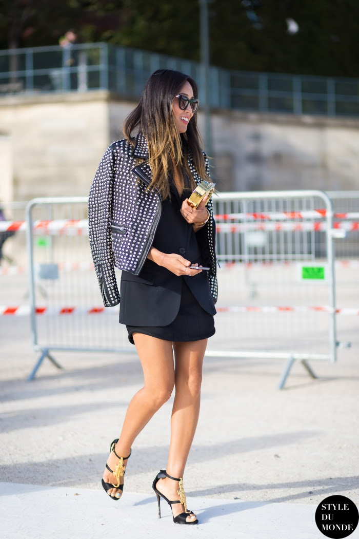 Aimee Song Street Style Street Fashion Streetsnaps by STYLEDUMONDE Street Style Fashion Blog