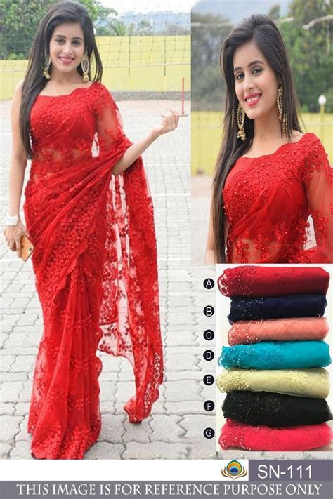Latest Bollywood Designer Net Sarees At Indiandresses.Co
