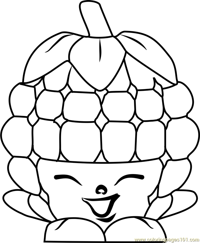 Coloring And Drawing: Raspberries Colouring Pages Shopkins
