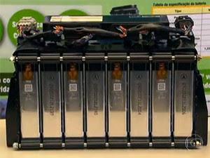 bateria ônibus elétrico (Foto: Reprodução/TV Globo)