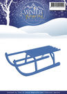 PM10049 Snijmal - Precious Marieke - Winter Wonderland - Sled
