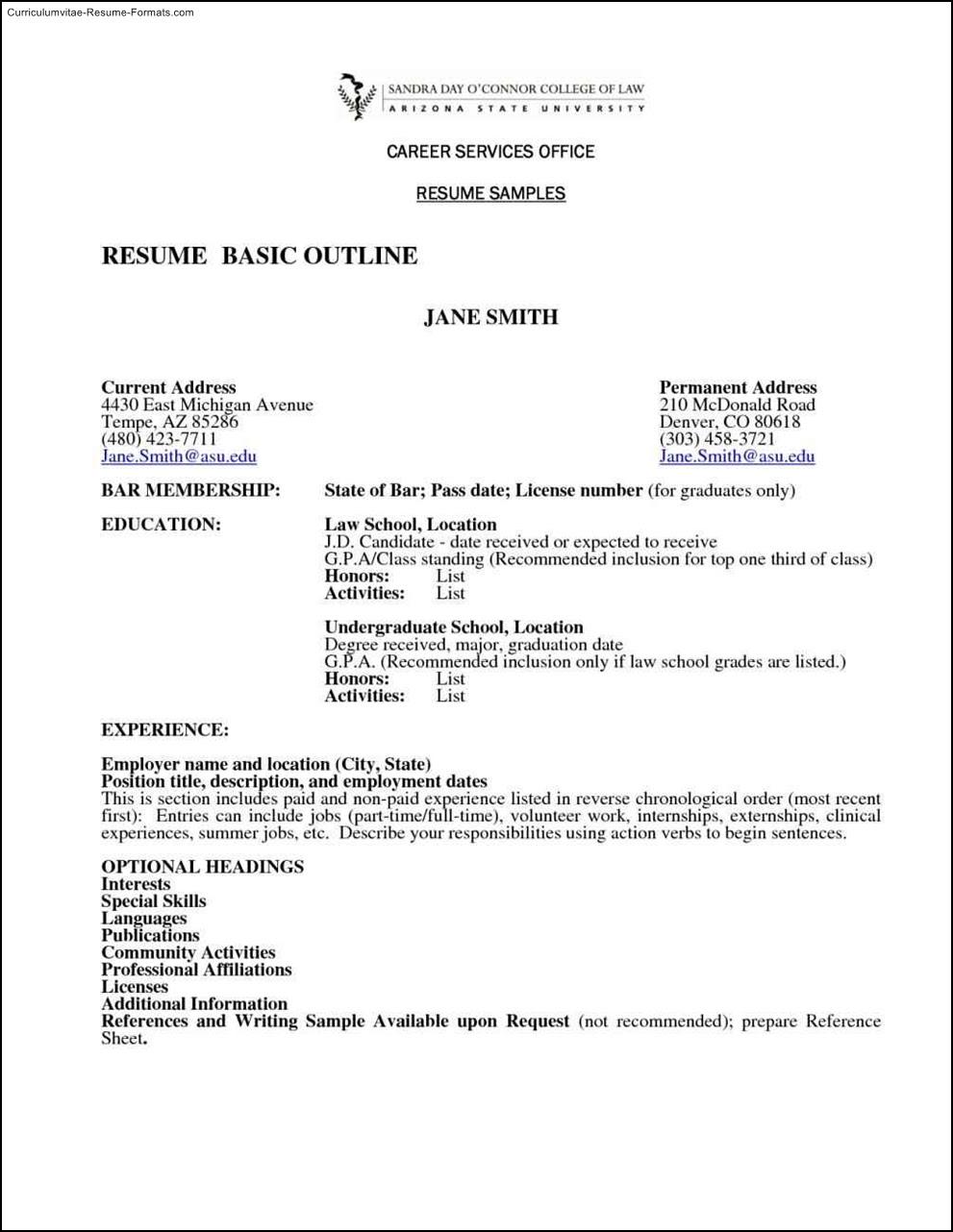 Basic Resume Template Australia  Free Samples , Examples  Format Resume \/ Curruculum Vitae