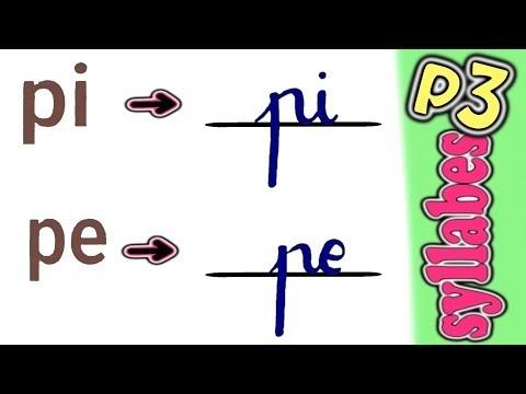 تعليم كتابة حروف الفرنسية(ج4)،كتابة المقاطع اللفظية(Les syllabes:part 3)