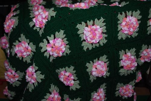 rose afghan