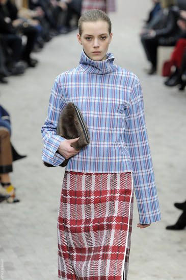 Celine AW 2013: PFW #trend #plaid #mixed patterns #checkered