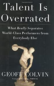 "Cover of ""Talent Is Overrated: What Reall..."